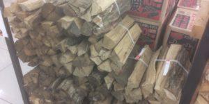 ソロキャンプ用にジョイフル本田で薪ストーブ用の薪を購入♪